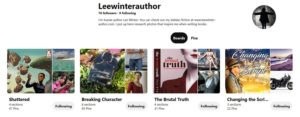 Lee Winter's Pinterest page