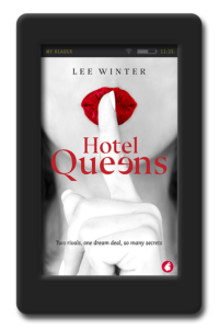Cover of lesbian romance Hotel Queens by author Lee Winter